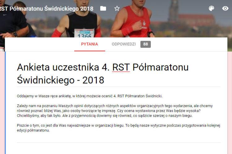Ankieta – 4. RST Półmaraton Świdnicki