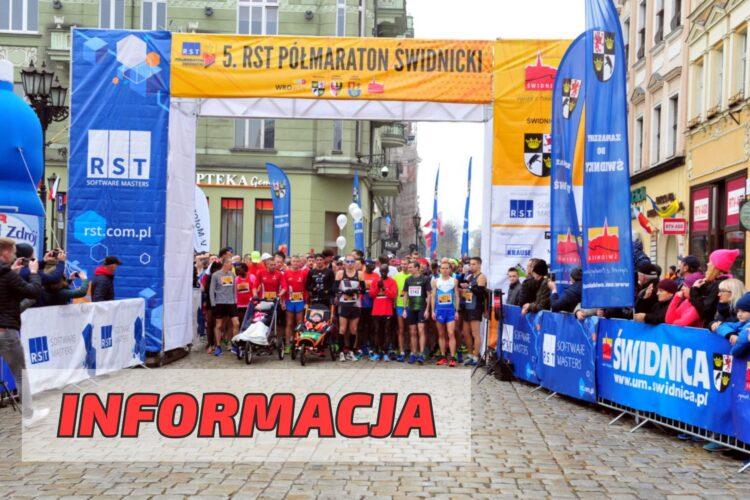 Informacja 6. RST Półmaraton Świdnicki